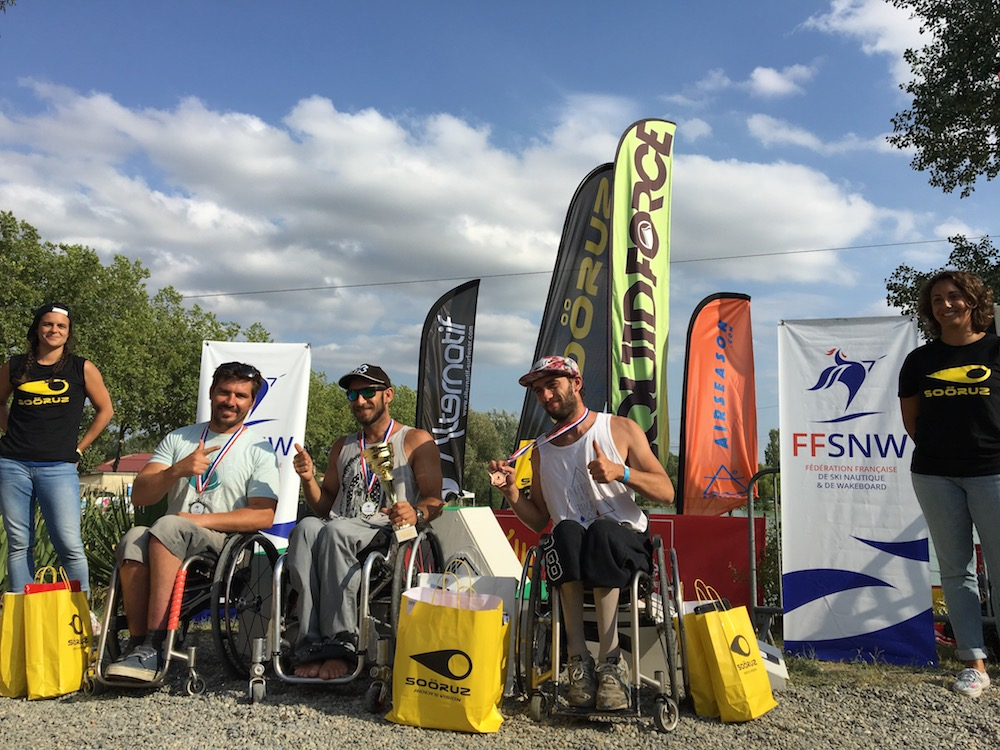 Seated wakeboard championnat de France 2017