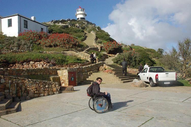 Cape point en fauteuil roulant
