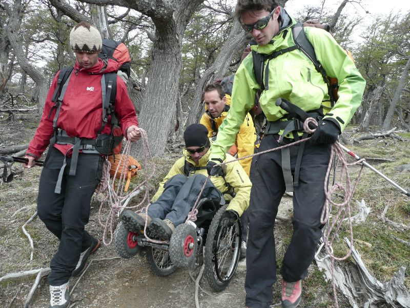 Rando Fitz Roy en fauteuil roulant