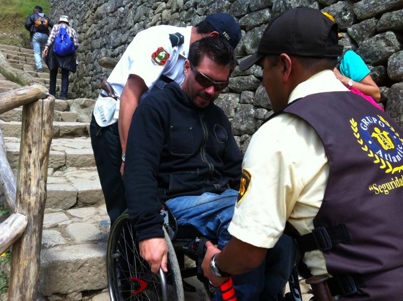 Escaliers du Machu Picchu
