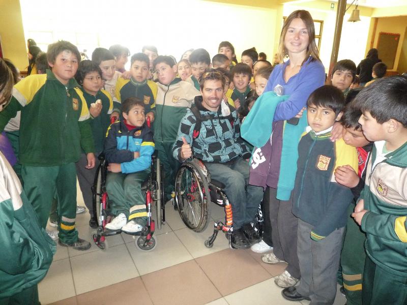 Intervention handicap école Mapuche