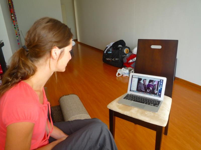 Skype avec école française