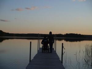 handicap, écoles, wakeboard en Suède -lac