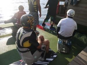 handiwake au TSN 44-ponton de départ