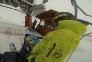 Sortir télésiège ski assis/handiski