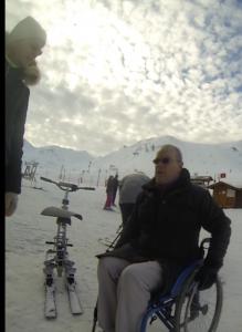 Laurent Lejard journaliste handicap à la Plagne
