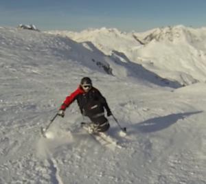 360° glissé en ski assis
