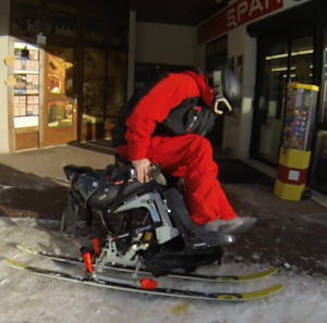 transfert handiski - fauteuil roulant