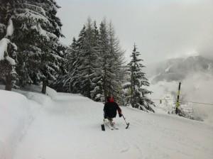 Déplacements sur le plat en ski assis / handiski