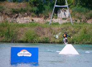 Handi-wakeboard assis bi-poulies