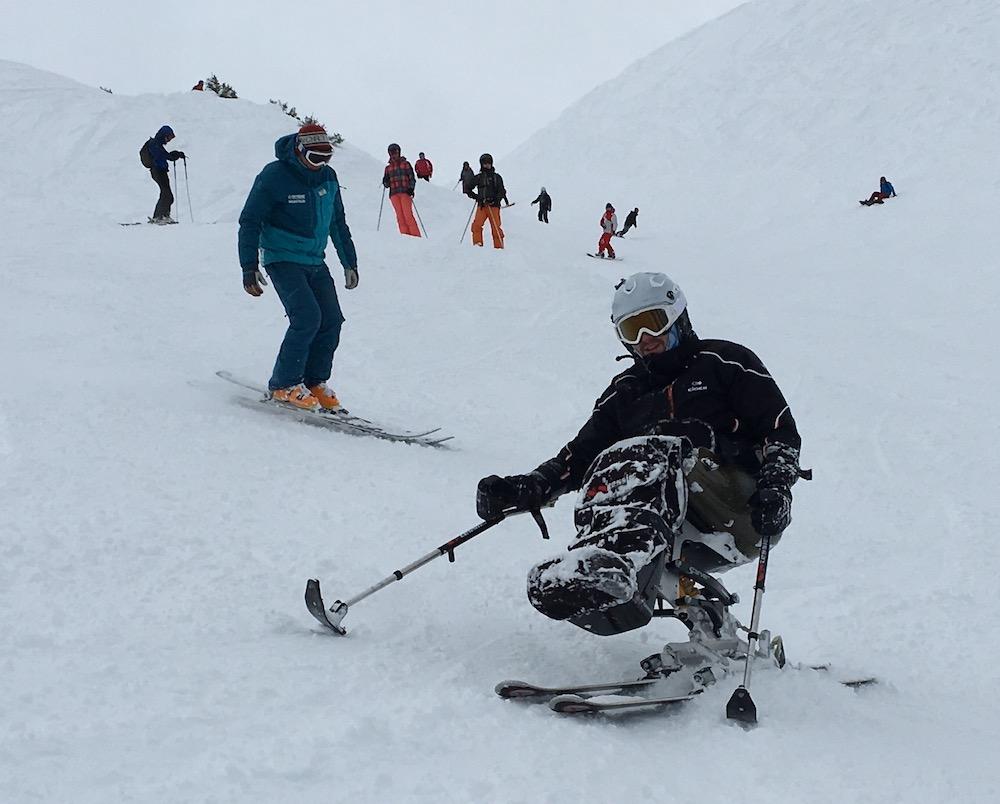 Stephane Gervaise skieur paraplégique