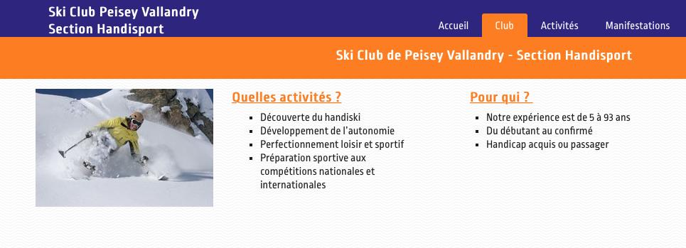 HANDISKI-CLUB PEISEY