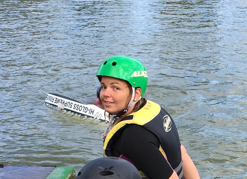 Véronique Senac - Monoplégie handi wakeboard assis